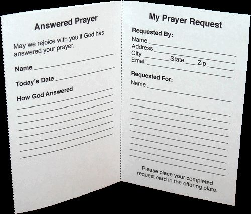 The o 39 jays card templates and prayer request on pinterest for Prayer card template free