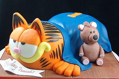 Admirable Garfield 3D Cake With Images Garfield Cake Garfield Birthday Personalised Birthday Cards Veneteletsinfo