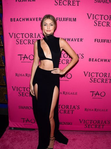 Gigi Hadid Makeup Looks Fresh and Natural on the Pink Carpet #VSfashionshow