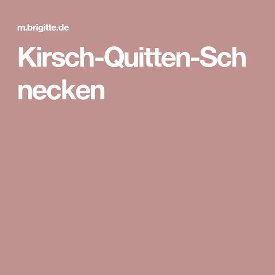 Kirsch-Quitten-Schnecken