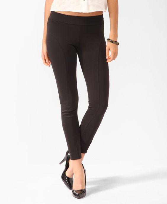 Black leggings can go with any longer shirt. I love leggings!!!