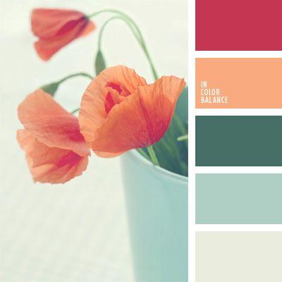 azul aciano pálido, azul celeste, color coral, color de amapolas, color tallo de amapola, colores para la decoración, de color plata, gris pálido, paletas de colores para decoración, paletas para un diseñador, selección de colores.
