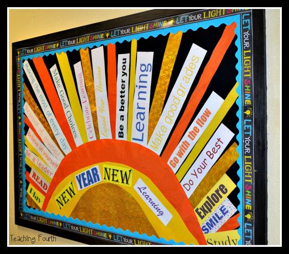 Teaching Fourth: Beautiful Bulletin Boards