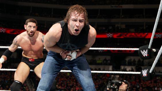Raw 1/19/15: Dean Ambrose vs Bad News Barrett
