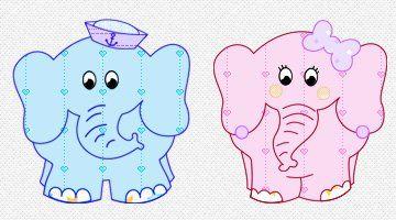 Patchwork moldes: elefantes simpáticos para patch aplique