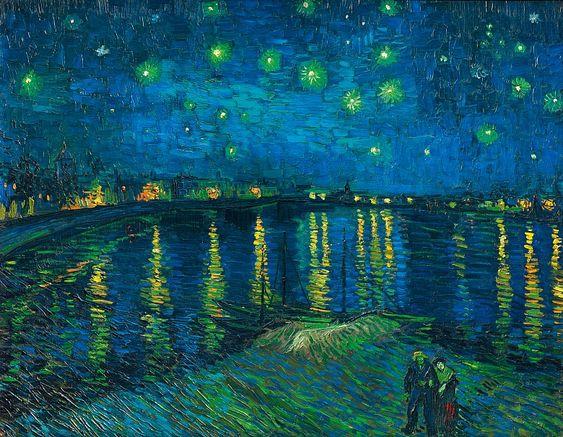 Sternennacht. 1888  www.tapeterie.de