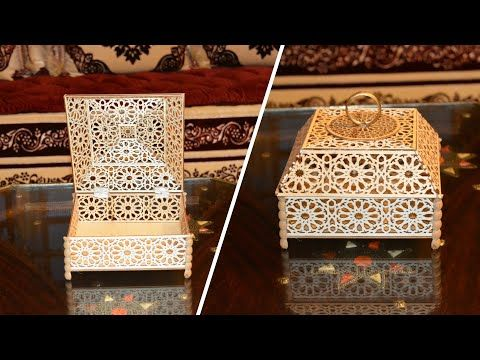 اصنعي بنفسك علب لتقديم الحلويات بأقل تكلفة تتمة Youtube Diy Bottle Crafts Bottle Crafts Wedding Gift Boxes