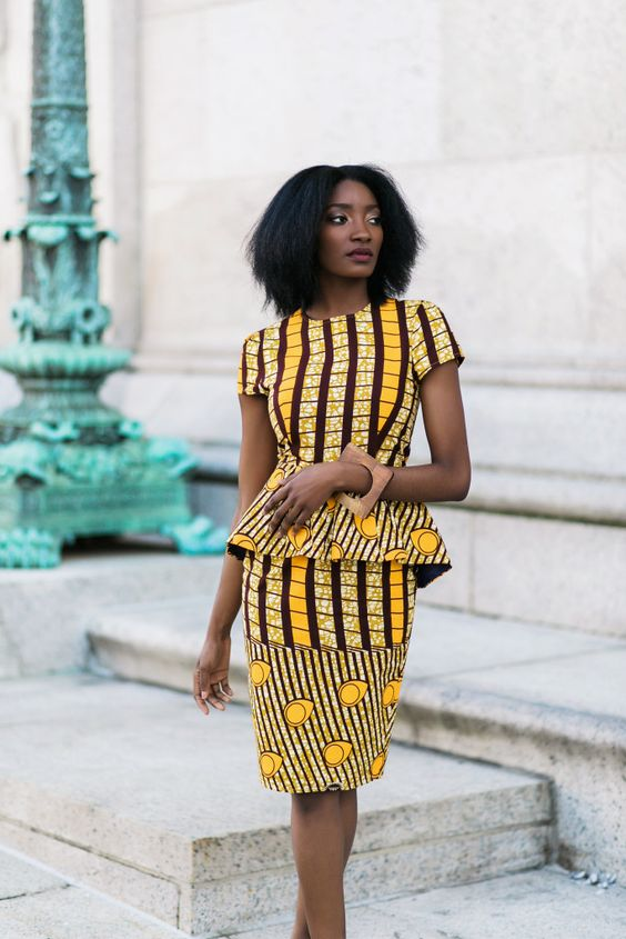 Mishelle Peplum Midi Dress – Brown
