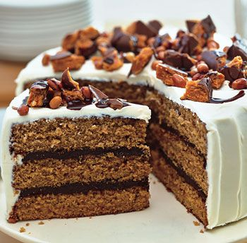 Chocolate-Peanut Butter Cake with Cream Cheese Frosting