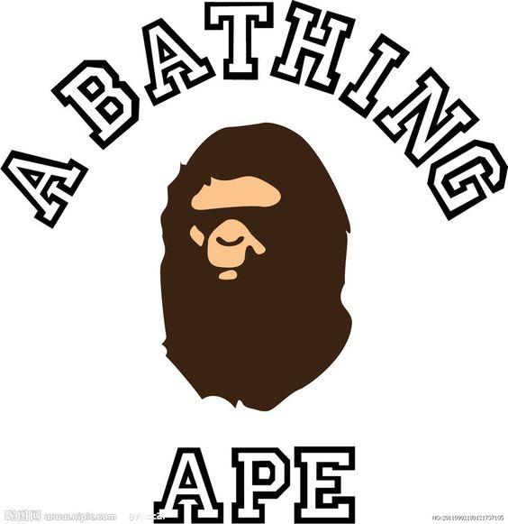 猿に色がついてる A BATHING APE