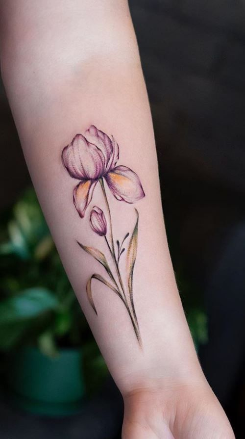 Iris Flower Tattoo Tattoo Pins In 2020 Iris Flower Tattoo Vintage Flower Tattoo Iris Tattoo