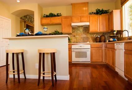 Cabinets that match brazilian cherry floors have natural for Brazilian cherry kitchen cabinets