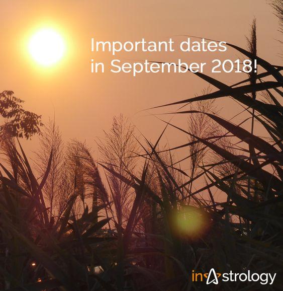 Pomembni datumi v septembru!