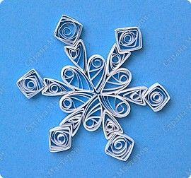 Снежинки квиллинг