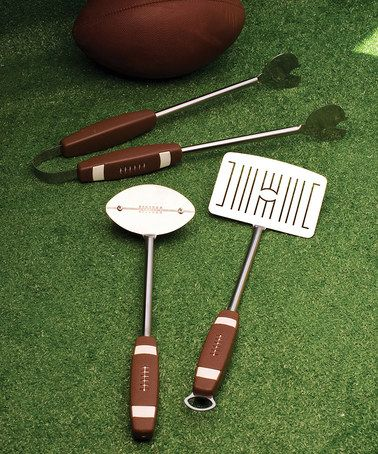 Look what I found on #zulily! Football Barbecue Tool Set #zulilyfinds