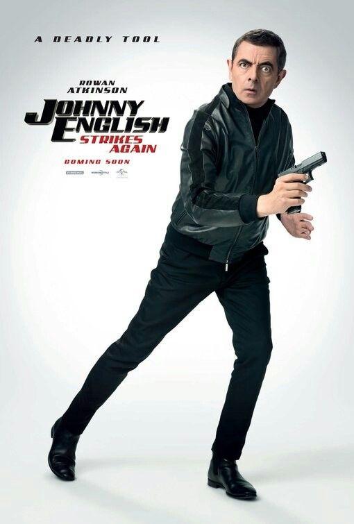 Johnny English Strikes Again Movie Poster Johnnyenglish Strikesagain Fantastic Movie Posters Scifimovies Posters Horrormovies Posters Capas De Filmes Filmes