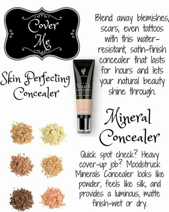 After Foundation its conceal time! Our Mineral touch concealer can cover tattoos…