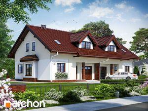 Dom w cyklamenach 5 (B) Projekt domu do zabudowy bliźniaczej, na wąską działkę, z poddaszem użytkowym. Dwuspadowy dach, kotłownia na paliwo stałe, garaż jednostanowiskowy. Więcej na http://archon.pl/gotowe-projekty-domow/dom-w-cyklamenach-5-b/m892209a0a8530