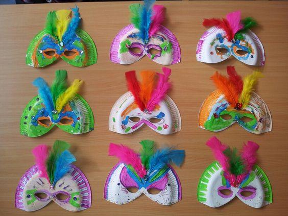 Activiteit voor de kinderen, thema carnaval.: