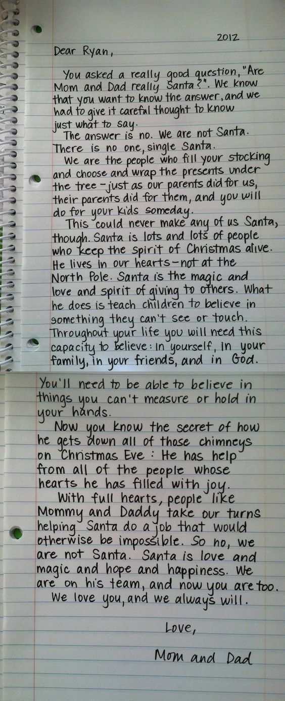 """I'm a big fan of this breakdown on Santa.  I appreciated the idea behind Santa as a child, but this letter from a child's parents just smashes the nail on the head for me.  I dislike the idea of """"robbing"""" the magic of Christmas from my children with """"the truth"""", but with a message like this I don't feel as though I have to anymore.  Awesome."""