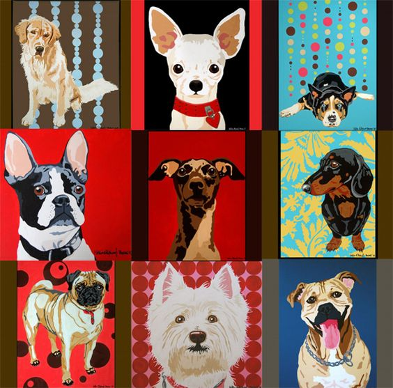 Doodle Dog Paintings