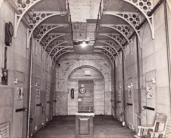 International News Photo, NY, Prison Solitary Cells, ca. 1936