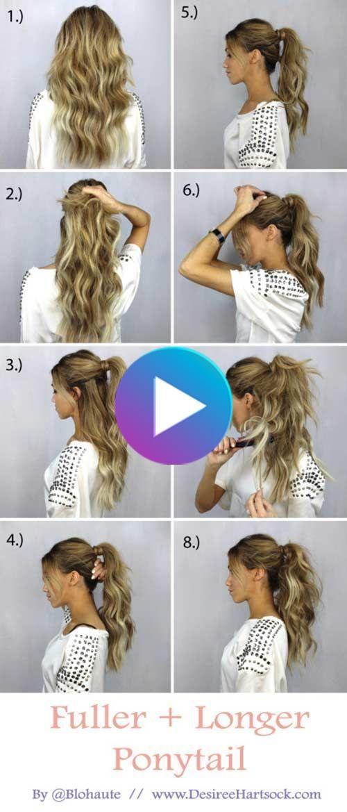 20 Terrific Hairstyles For Long Thin Hair In 2020 Long Thin Hair Ponytail Tutorial Diy Hairstyles
