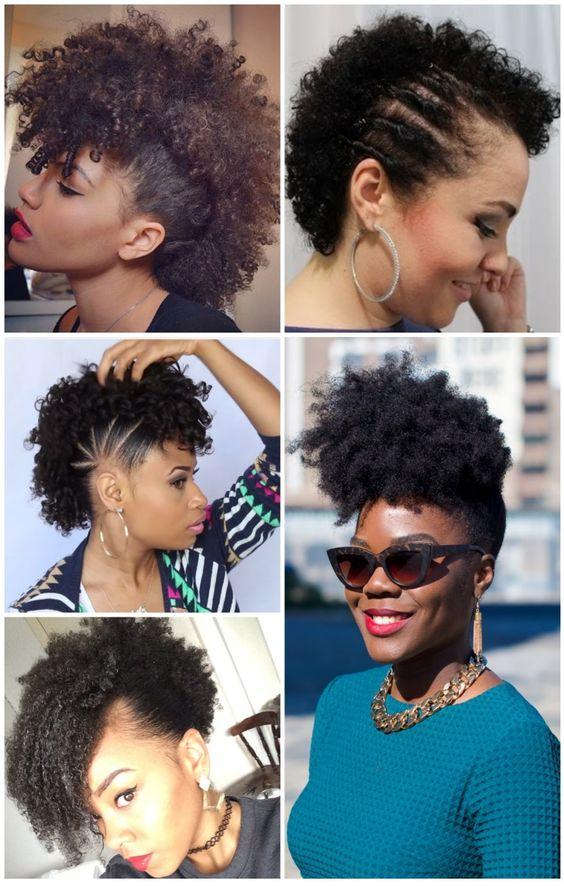 Esse penteado deixa o look bem arrumadinho, não tem erro. O mais legal do penteado moicano é que, mesmo se o seu cabelo for curtinho, dá para fazer.: