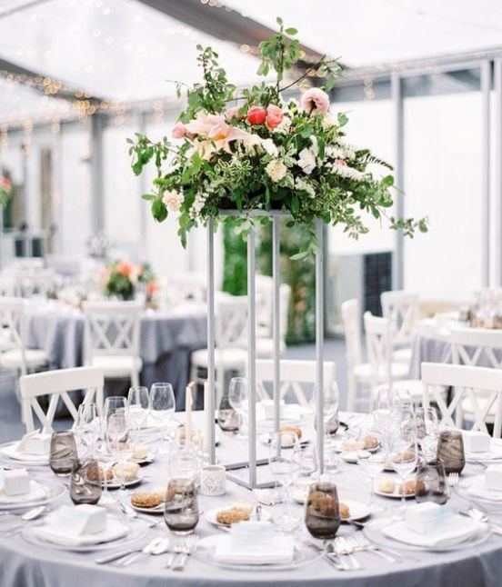 30 Sophisticated Tall Wedding Centerpieces Tall Wedding Centerpieces Modern Wedding Centerpieces Wedding Table Centerpieces