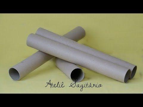 Ideias Com Rolo De Papel Youtube Com Imagens Rolo De Papel