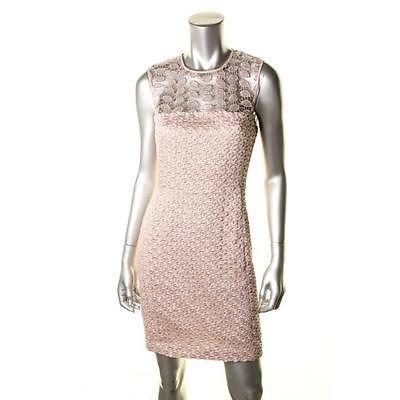 Diane Von Furstenberg New Kinchu SG Beige Lace Sleeveless Cocktail Dress 12 BHFO