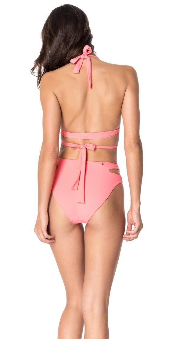 Red Carter 2015 Spice & Dice Wrap Triangle High Waist Coral Bikini
