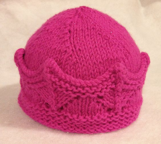 Free knitting pattern for Crown Hat pattern by Donna Sires - more baby hat pa...