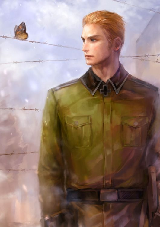 Tags: Anime, Erico Lotus, Axis Powers: Hetalia, Germany, Realistic, Barbed Wire, Axis Power Countries