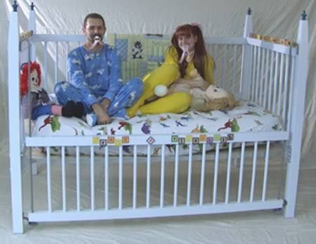 Funny cribs a98448 adult baby 6 deluxe crib most funny for Cradle bed for adults