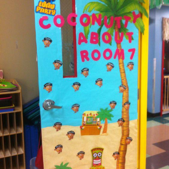 Classroom Luau Ideas ~ Luau classroom door sea life theme pinterest warm