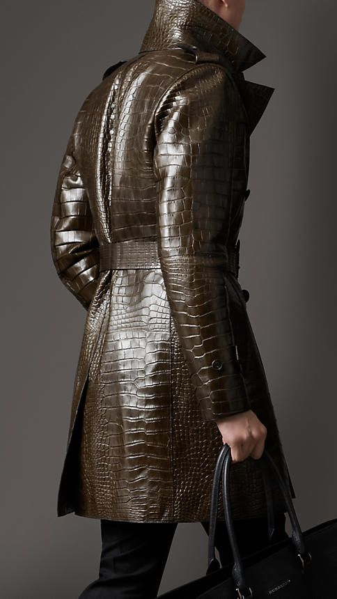 Military green Alligator Trench Coat - Image 2 I am not making this up.  On the Burberry site they are asking $189,995.00