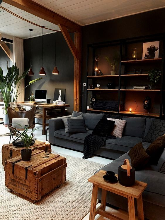 Reduce Remodeling Stress Masculine Living Rooms Home Living Room House Interior