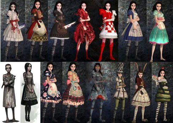Alice madness returns my fav dress is hysteria the 1st one what 39 s yours random - Deguisement alice au pays des merveilles fait maison ...