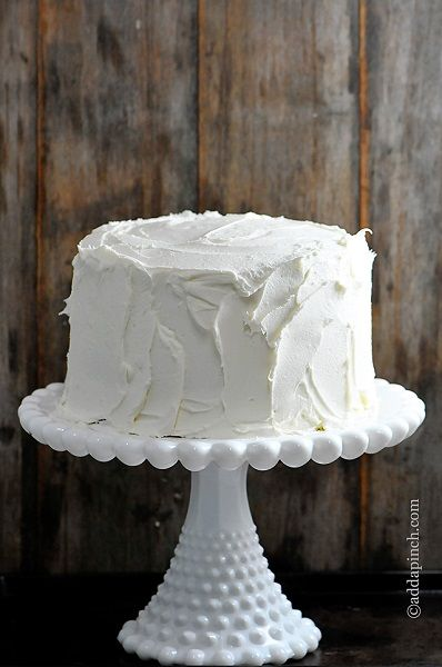 """Another pinner said: """"The Best White Cake Recipe Ever. She experimented with her…"""