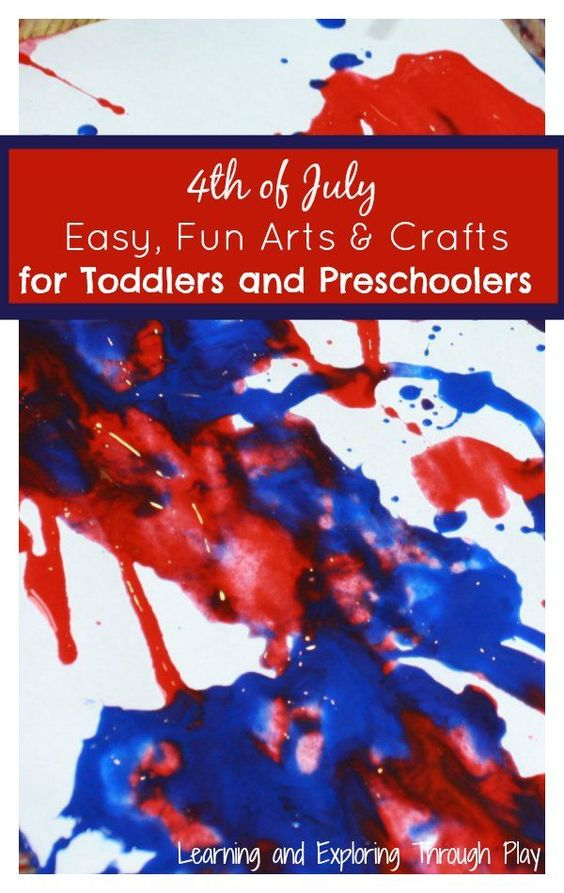 Learning and Exploring Through Play: 4th of July Arts and Crafts for Toddlers and Preschoolers