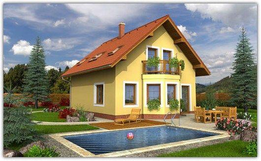 Perfect padurea craiului ii houten huis bouwen with patio for Moderne semi bungalow bouwen