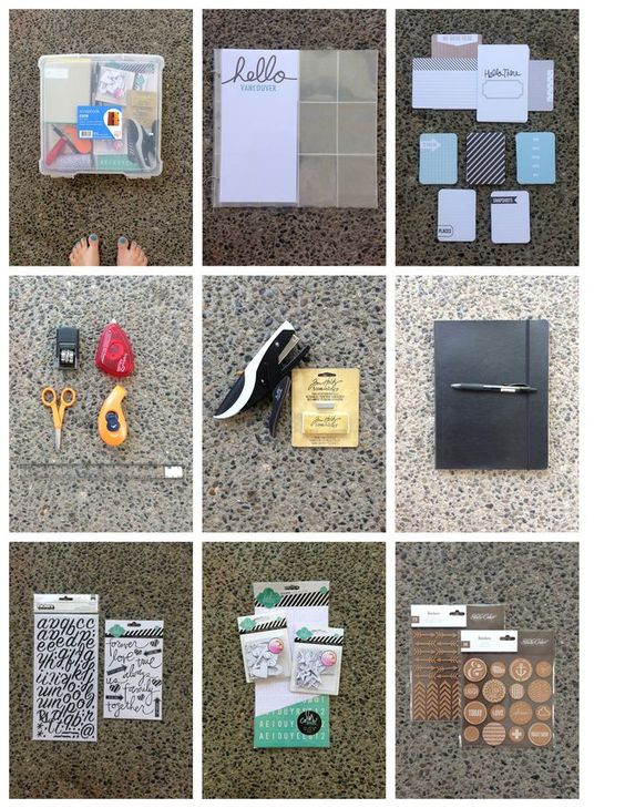 SCRAPBOOK ON THE ROAD: TRAVEL SUPPLIES