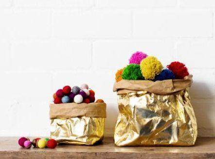 Noël - Christmas : Uashmama's gold paper bags