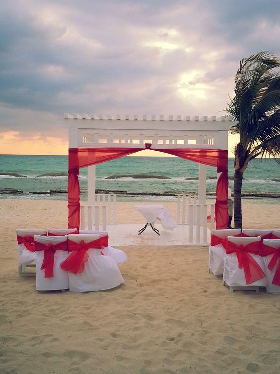 Beach wedding, El Dorado Suites, Riviera Maya Mexico https://www.facebook.com/BlissfulMoons