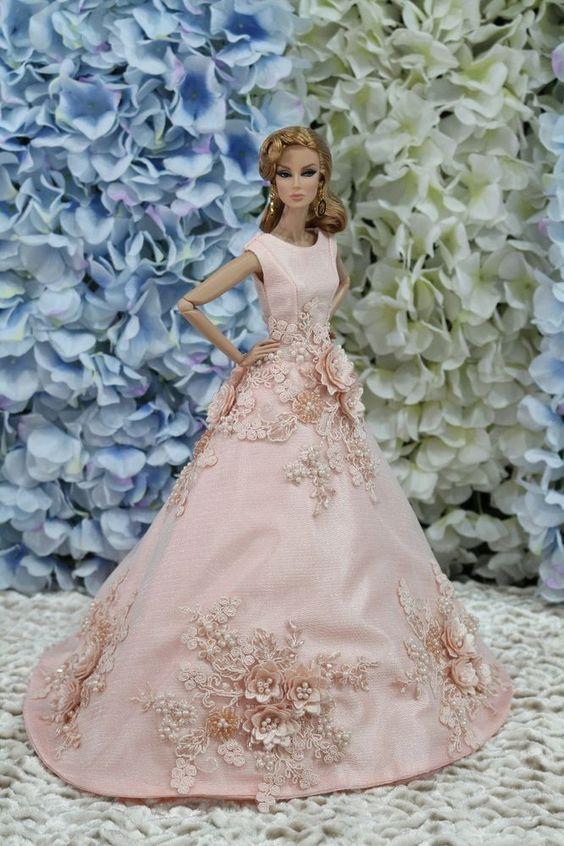 Evening dress for Fashion royalty / silkstone dolls by t.d.fashion ooak #tdfasiondolls: