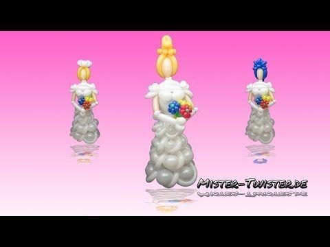 Balloon Bride, Ballon Braut, Modellierballon Ballonfiguren - YouTube