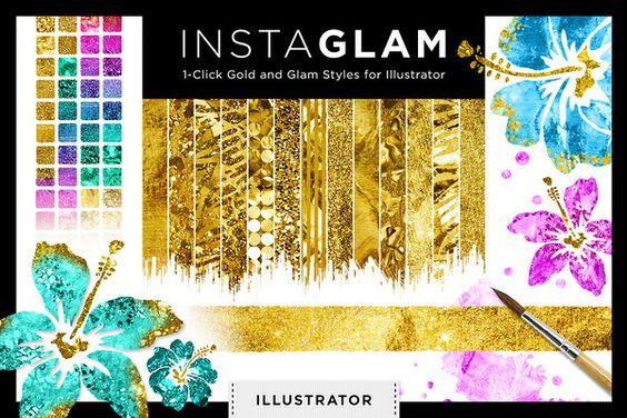 Gold Foil Textures InstaGlam Ai