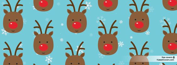 christmas reindeer | Kawaii Christmas Reindeer Facebook Cover / Twitter Cover | Free ...