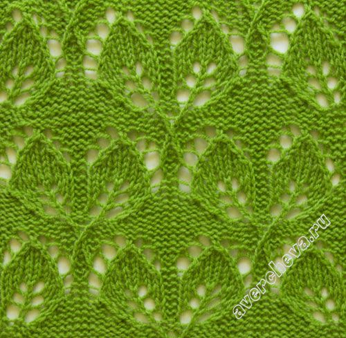 Knitting Pattern Leaf Lace : leaf lace knit pattern Leaf lace stitch knitting patterns Pinterest Pat...